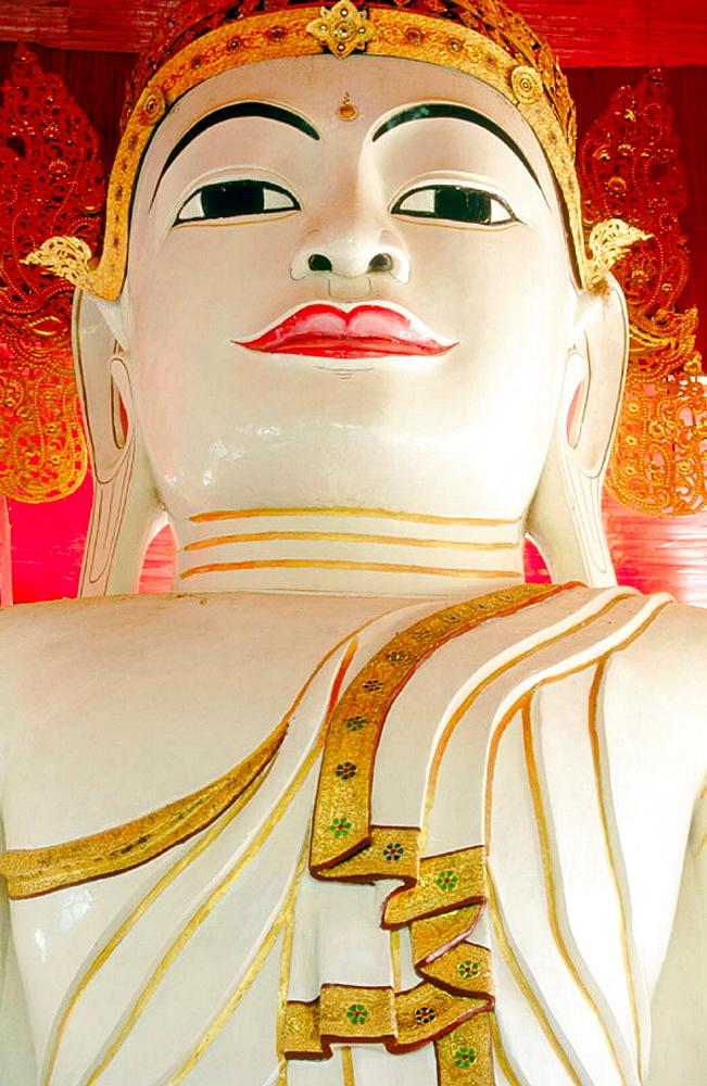 Giant Buddha statue, Amarapura, Mandalay, Myanmar (Burma)