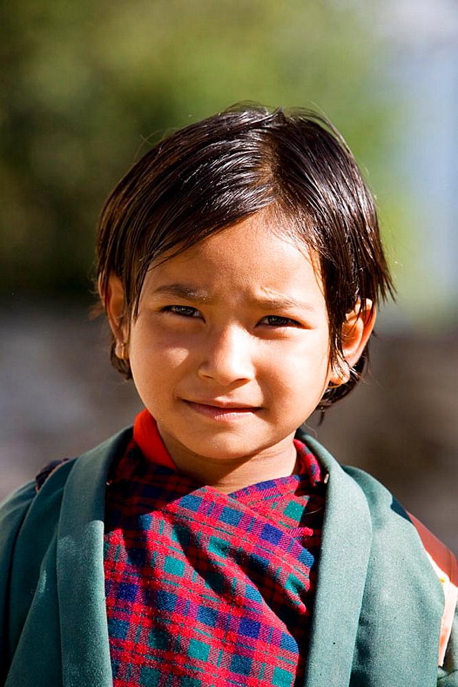 Schoolgirl, Paro, Bhutan
