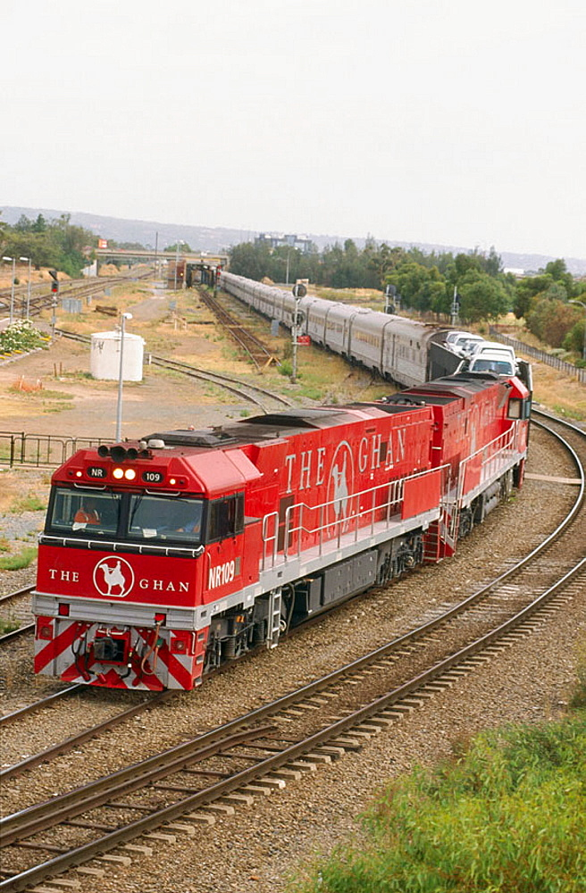 The Ghan Transcontinental passenger train Adelaide to Darwin, Australia