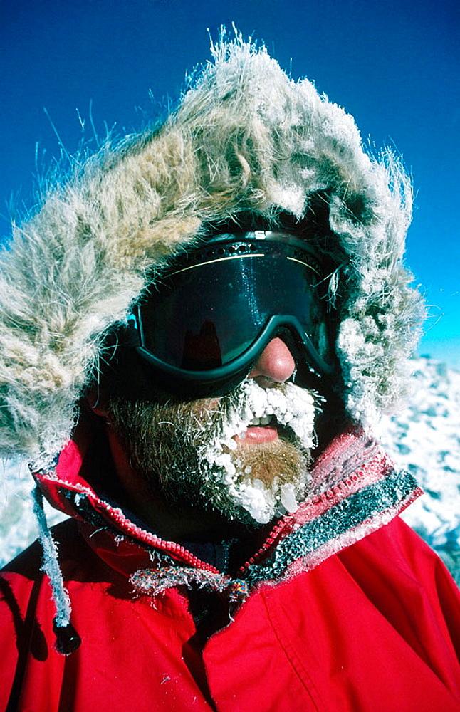 Private climbing expedition, Mount Erebus, Ross Island, Antarctica