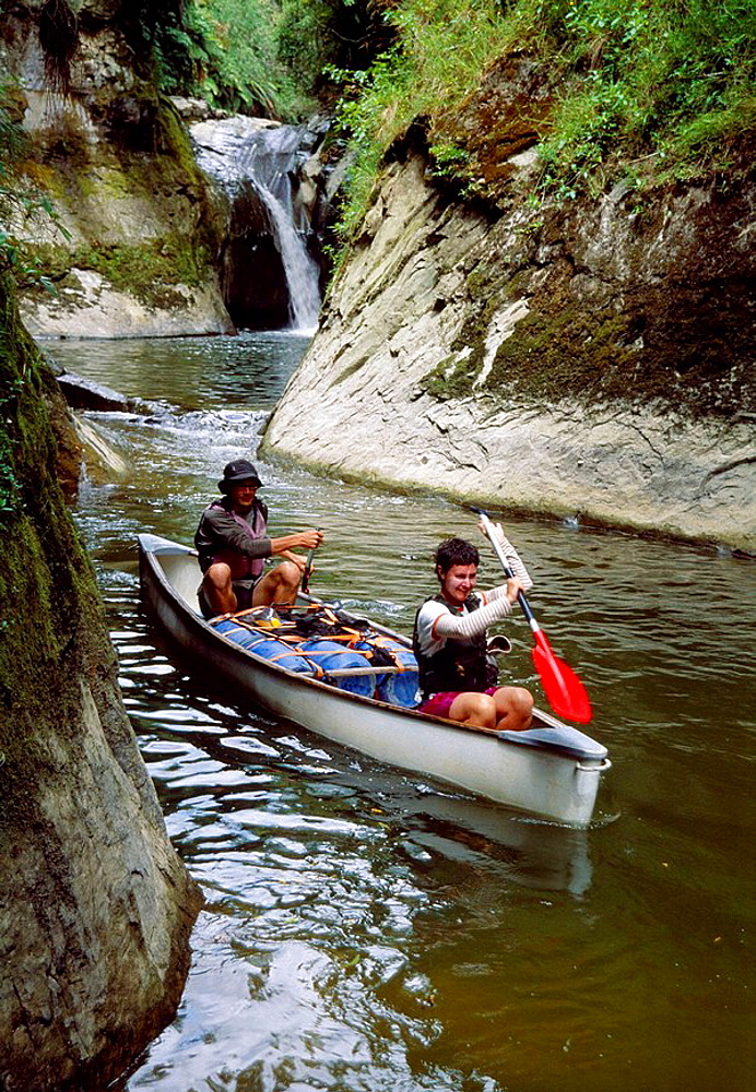 Canoeing on the Whanganui River New Zealand