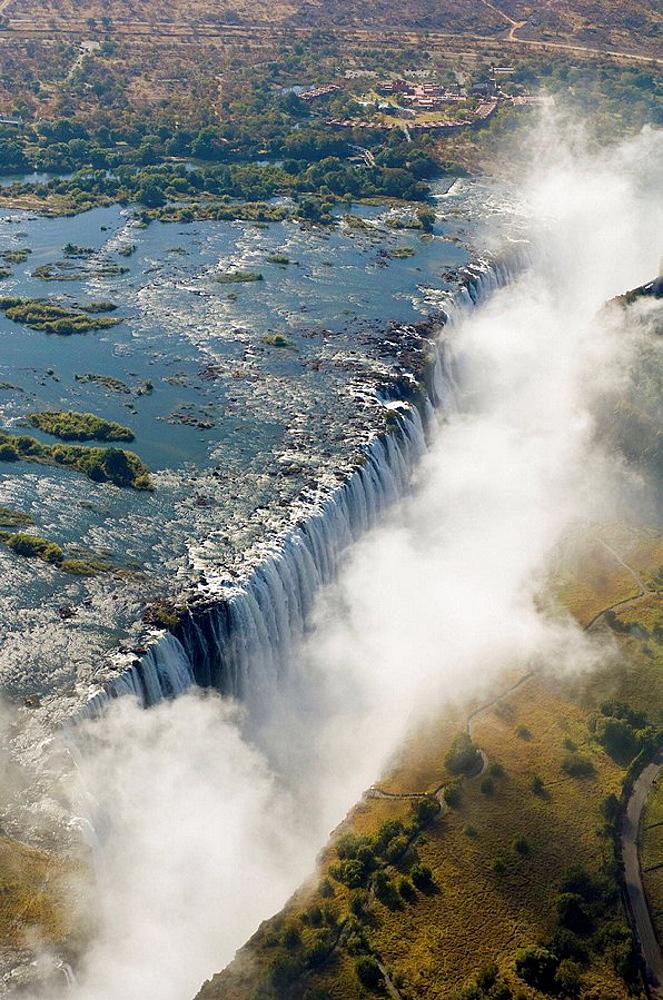 Victoria Falls, Zambesi River, Zambia - Zimbabwe border