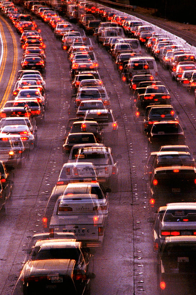 Traffic jam, 405 Freeway, California, USA
