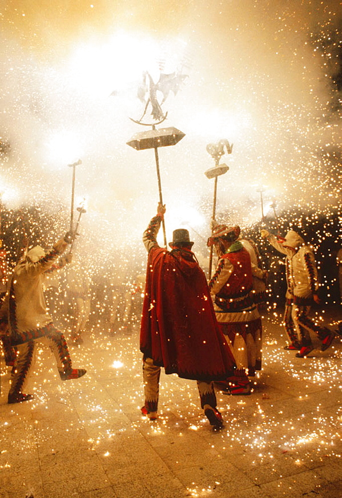 'Diables', local dancers, Santa Tecla festival, Tarragona, Spain - 817-124186