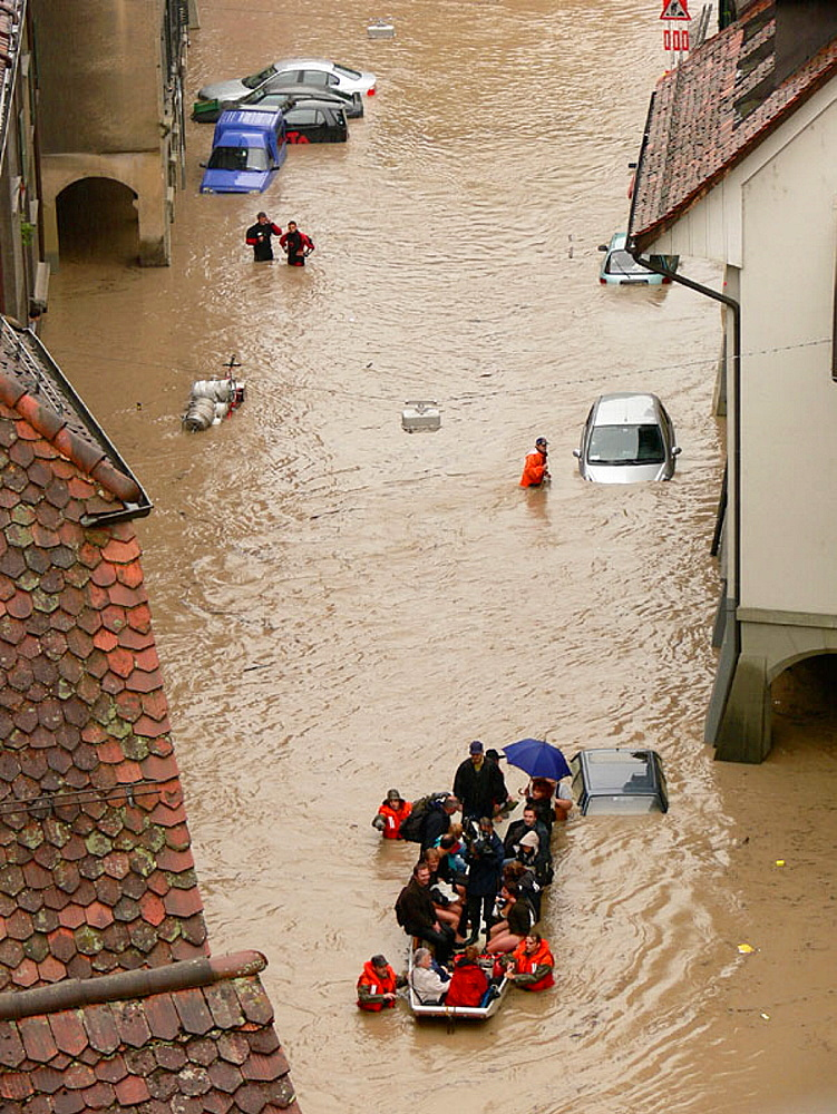 Floods of Aare River, Berne, Switzerland - 817-126002