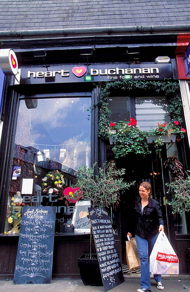 Scotland, Glasgow, Heart Buchanan delicatessen shop on Byres road at the trendy West End area
