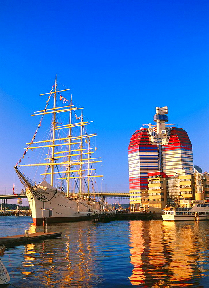 School ship at harbour, Goteborg, Sweden