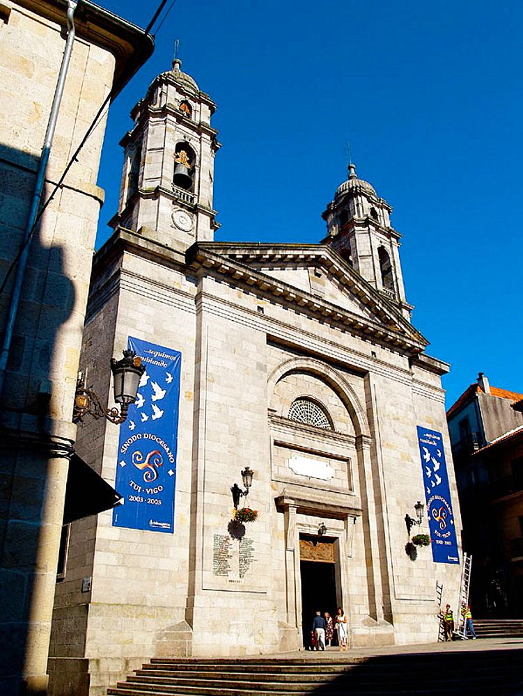 Con-cathedral of Santa Maria, Vigo, Pontevedra province, Galicia, Spain