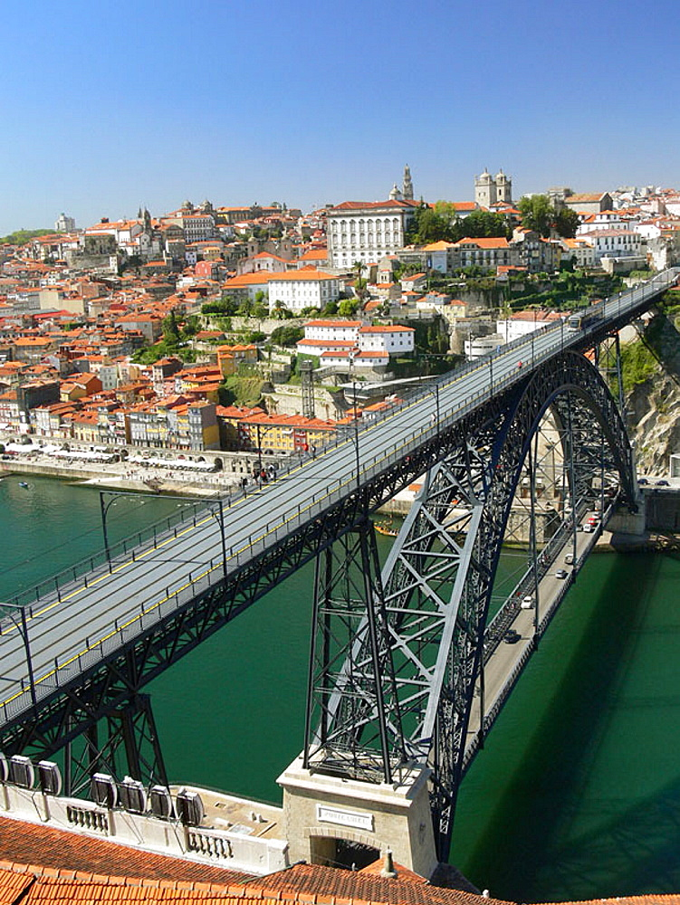 Dom Luis I Bridge over Douro river, Porto, Portugal