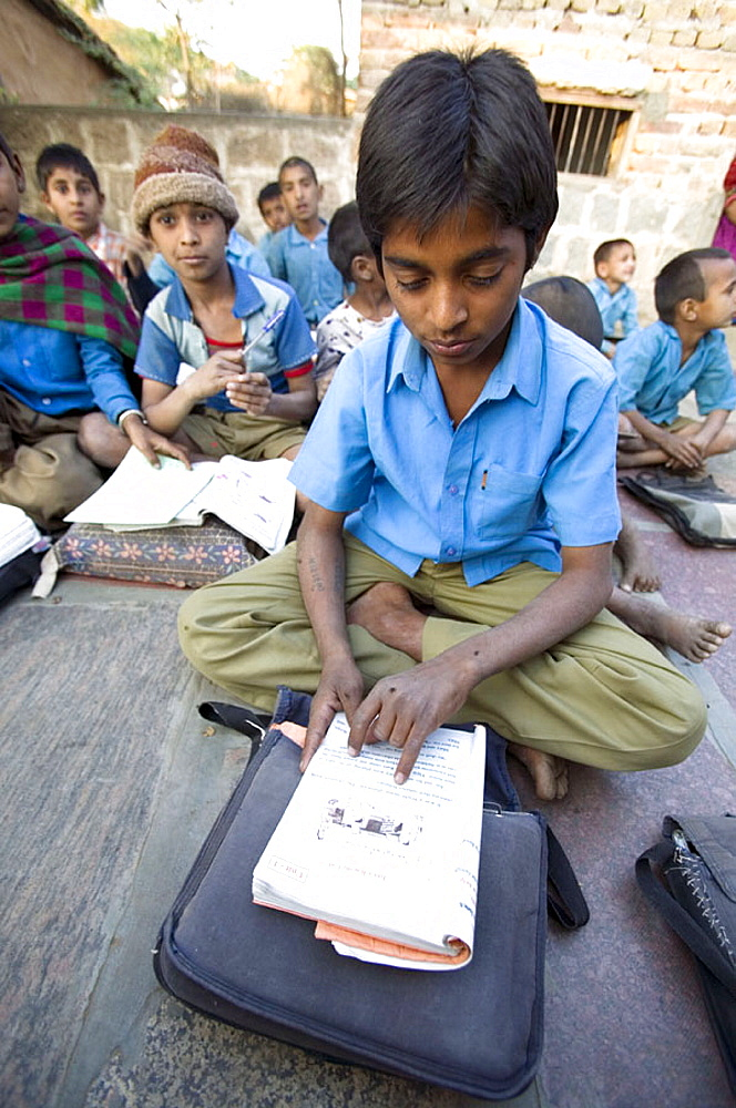 School children in small village, Bhenswara, Rajasthan, India