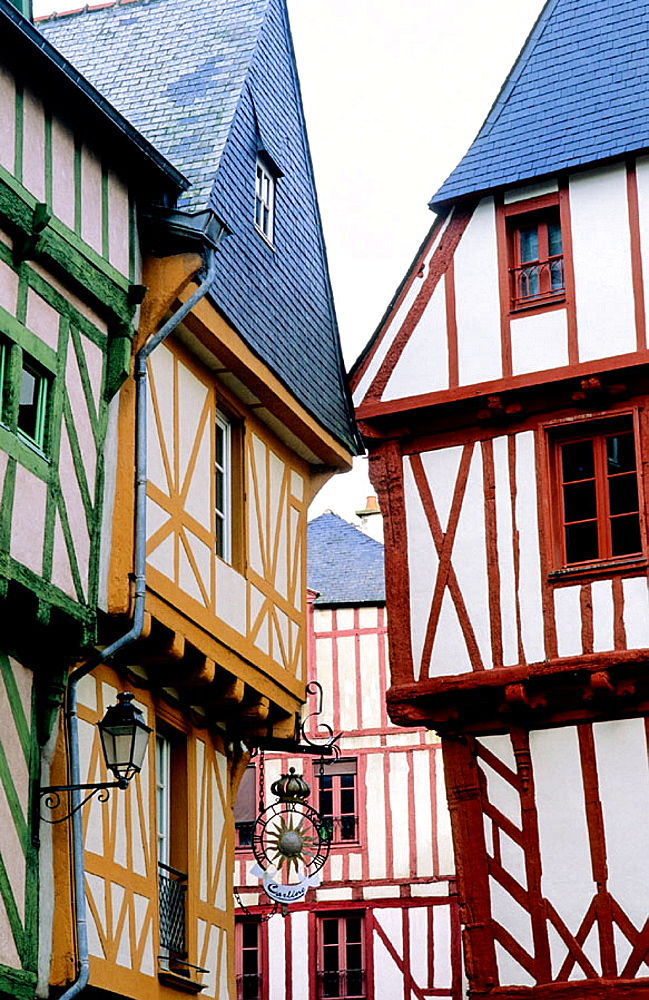 Old half-timbered houses, Vannes, Morbihan, Brittany, France - 817-141877