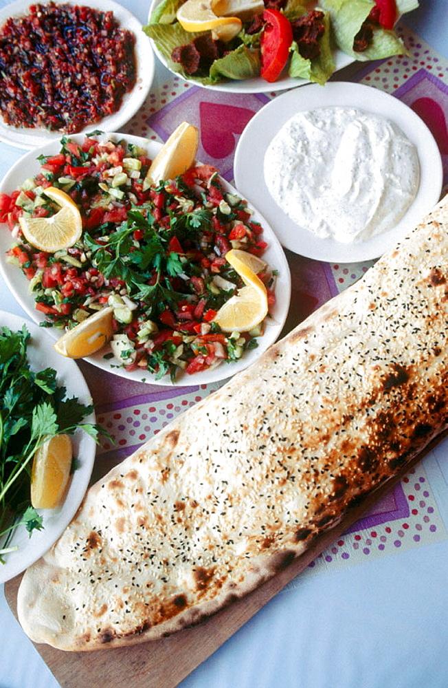 Meze Turkish cuisine, Antalya, Mediterranean coast, Turke