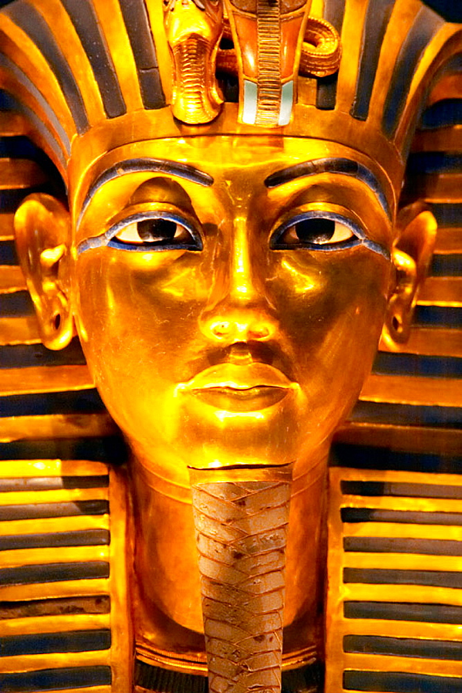 Tutankhamen death Mask, Egyptian Museum, Cairo, Egypt