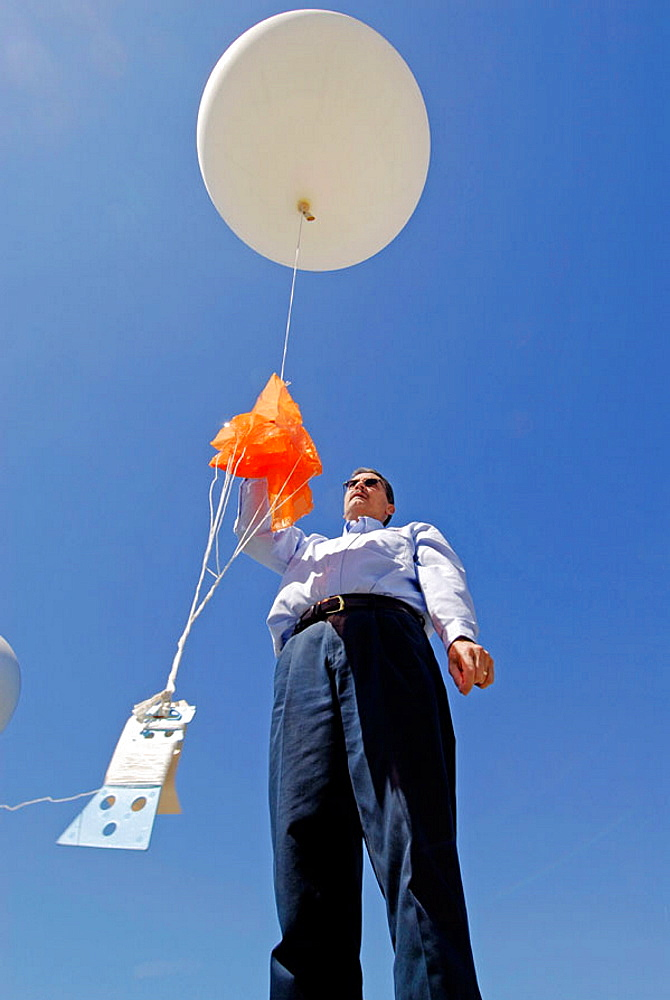 Neoprene Weather Balloon Launch at National Oceanic and Atmospheric Administration (NOAA), National Weather Service Station, Ruskin, Florida, Tampa, Hillsborough County, Gulf West Central, USA - 817-147172