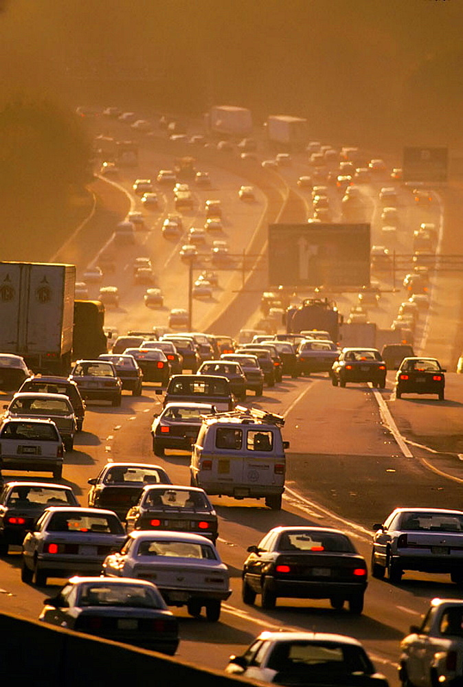 Atlanta Georgia traffic jam during rush hour, USA