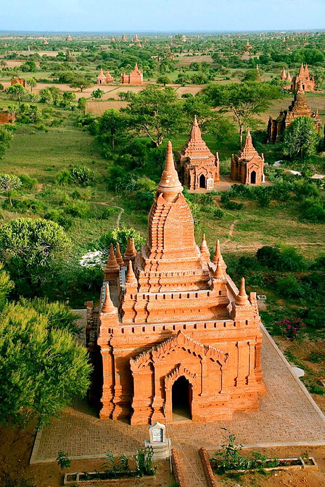 View from Shwesandaw Paya, Bagan, Myanmar (Burma)