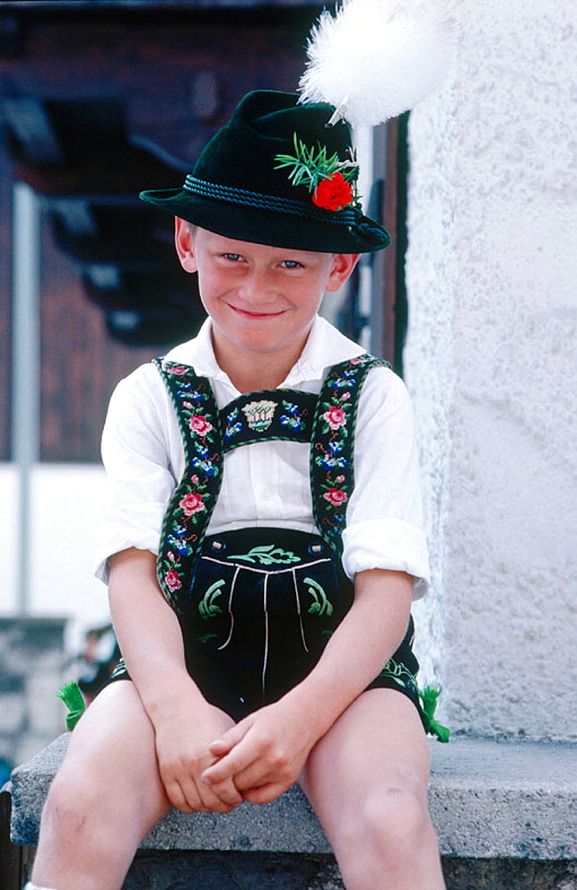 Boy from Garmisch, Bavaria, Germany