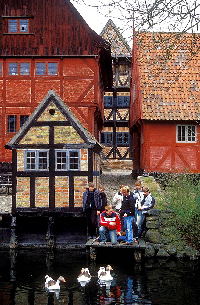 Den Gamle By or The Old Village a living copy of Danish villages in 19th Century, Aarhus, Denmark