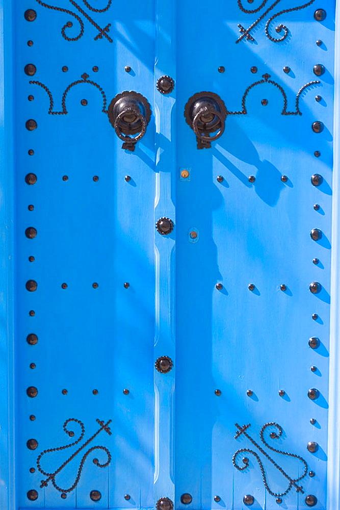 Bright blue doorway, Sidi Bou Said, Tunisia