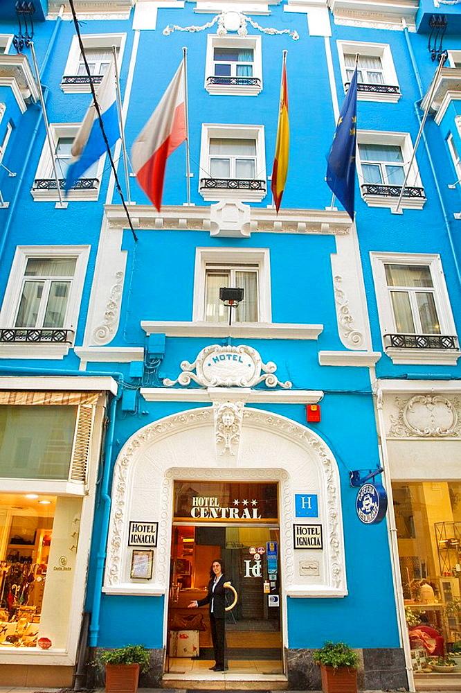 Hotel Central, antiguo Hotel Ignacia, Santander, Cantabria, Spain. - 817-16589