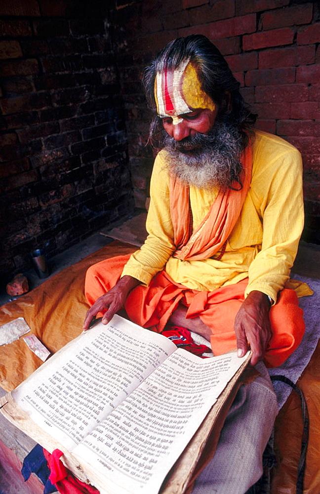 Sadhu (Holy man), Kathmandu, Nepal.