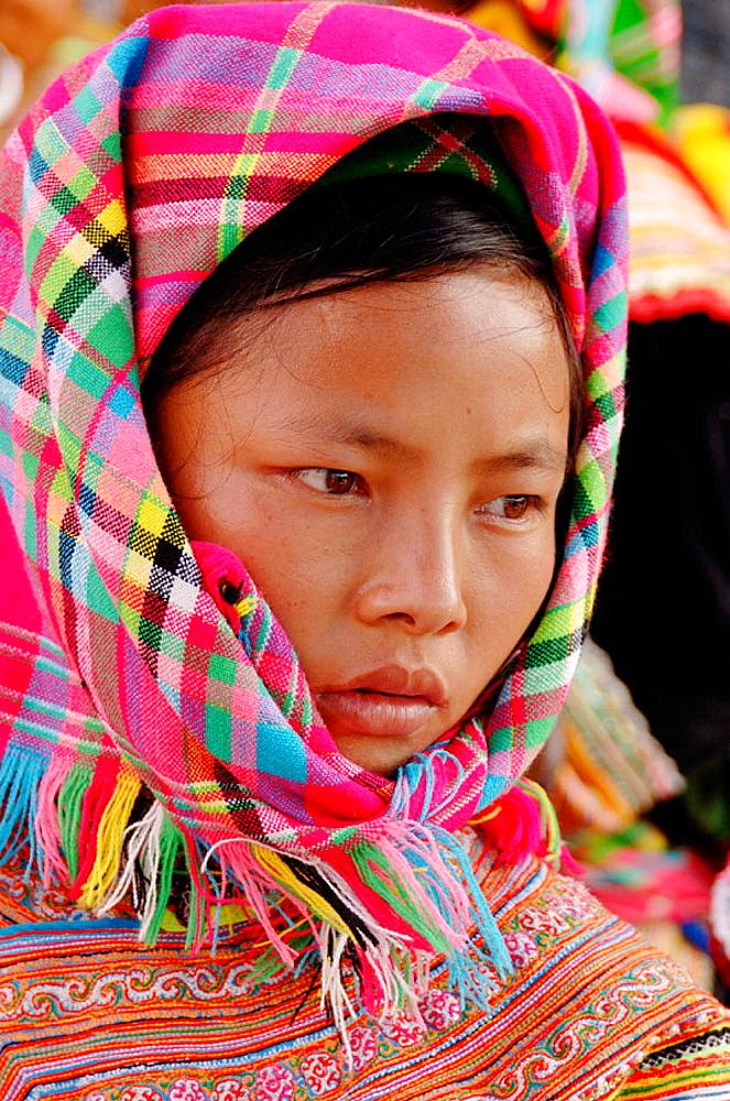 Hmong market, Bac Ha, Sapa region, North Vietnam.