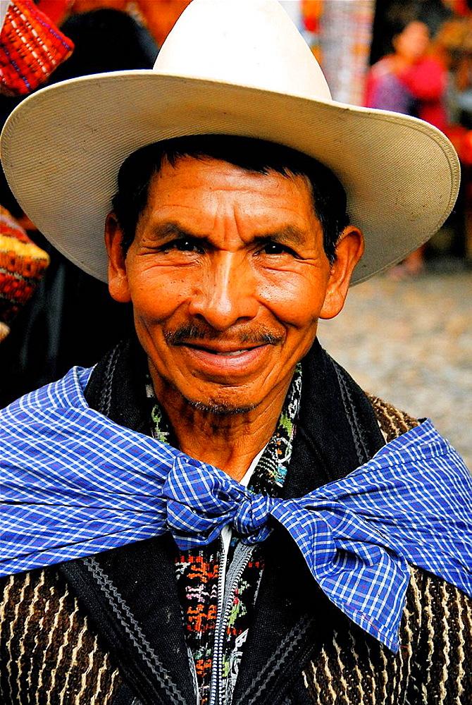 Man, Chichicastenango, Guatemala