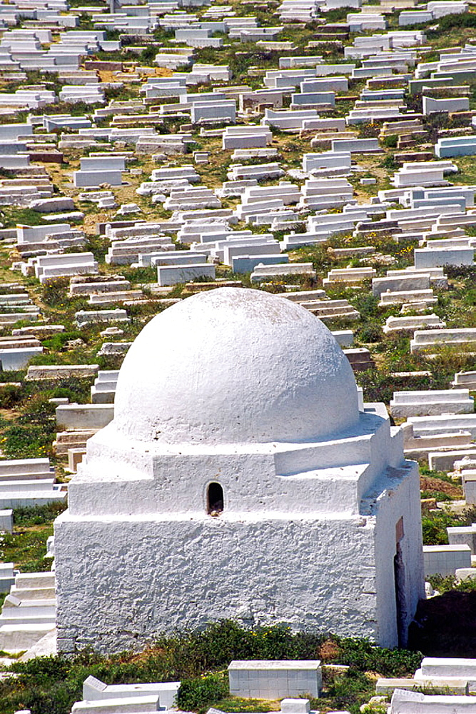 Local cemetery in the town of Monastir, Tunisia