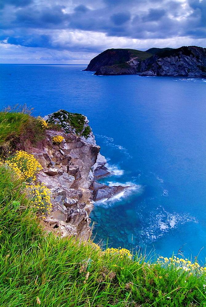 North Bay Cliffs, Barrika, Vizcaya, Basque Country, Spain