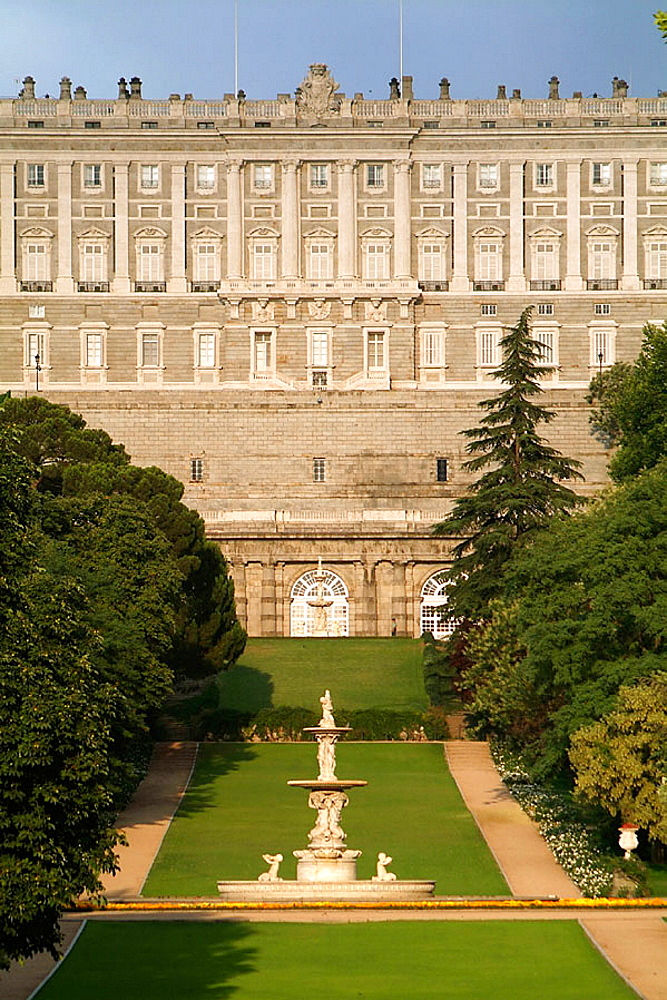 Royal Palace and Campo del Moro Gardens, Madrid, Spain