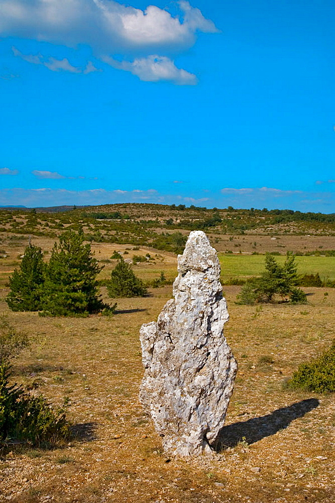 menhir in south of france : roussillon
