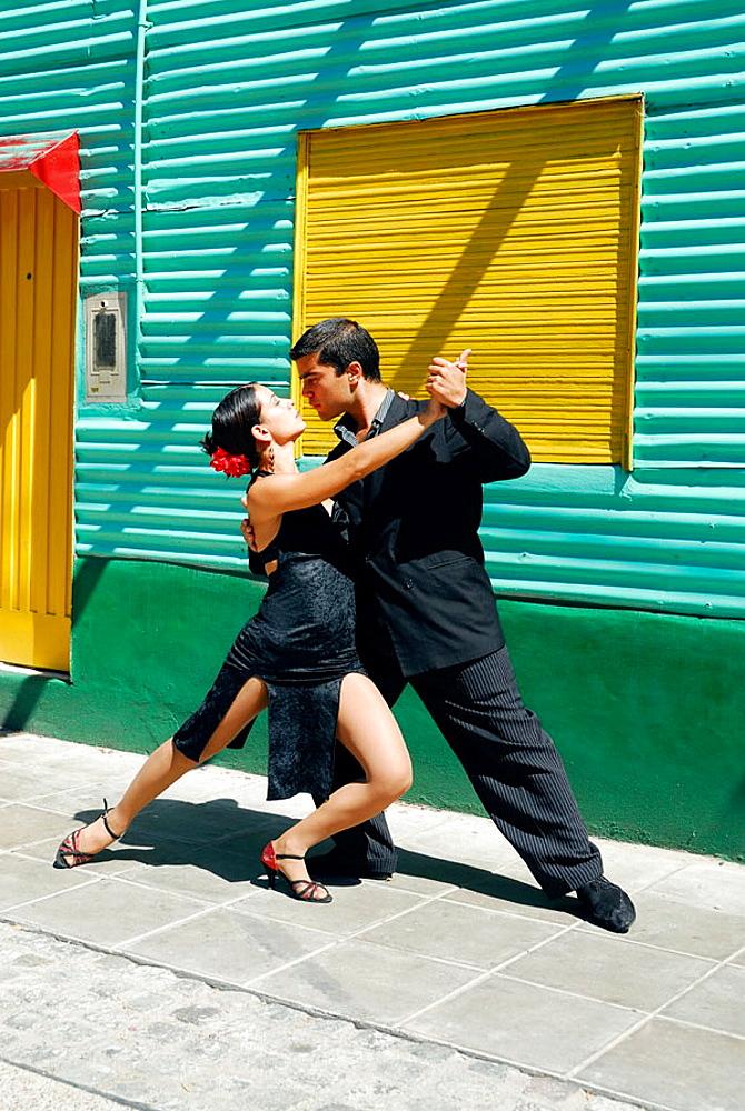 Tango, Caminito street, La Boca district, Buenos Aires, Argentina - 817-189058