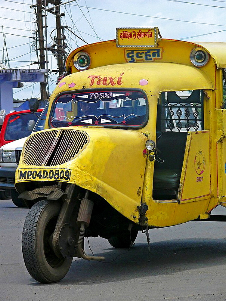Mad max local transports vehicle along the road  Bhopal, Madhyaprsdesh, India