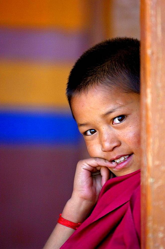 Young Lama at Hemis monastery in Ladakh, Jammu and Kashmir, India