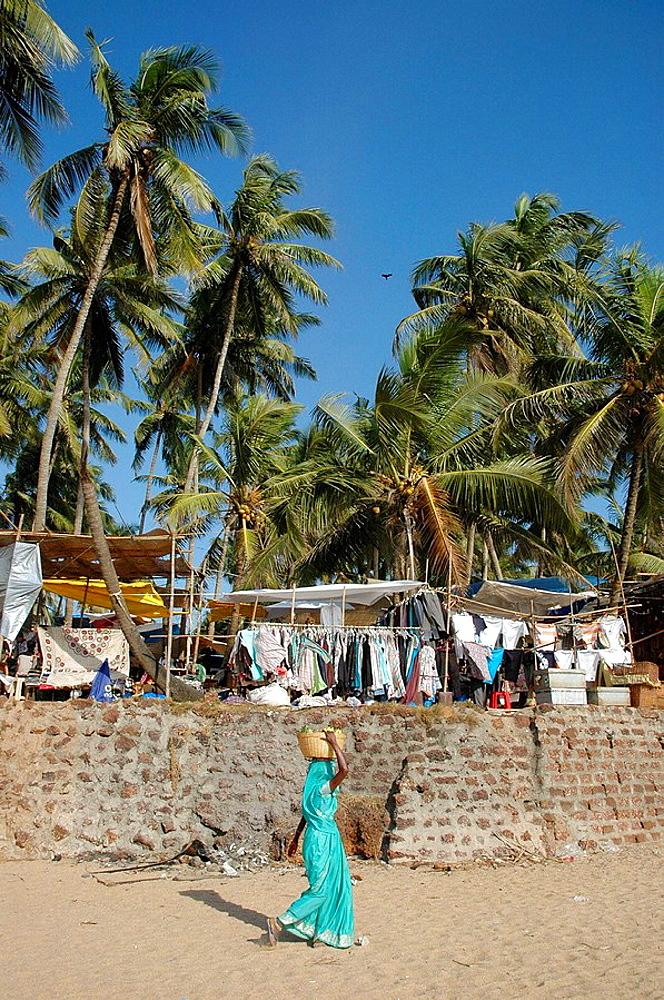 Anjuna Beach, Goa India: the flea market