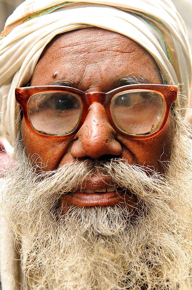Funny old man  portait of an old Sikh man taken in Amritsar,Punjab,India