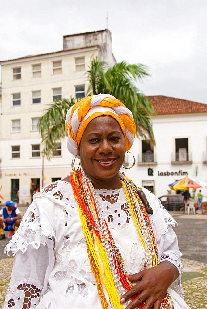 Brazil, Salvador de Bahia, Bahiana woman