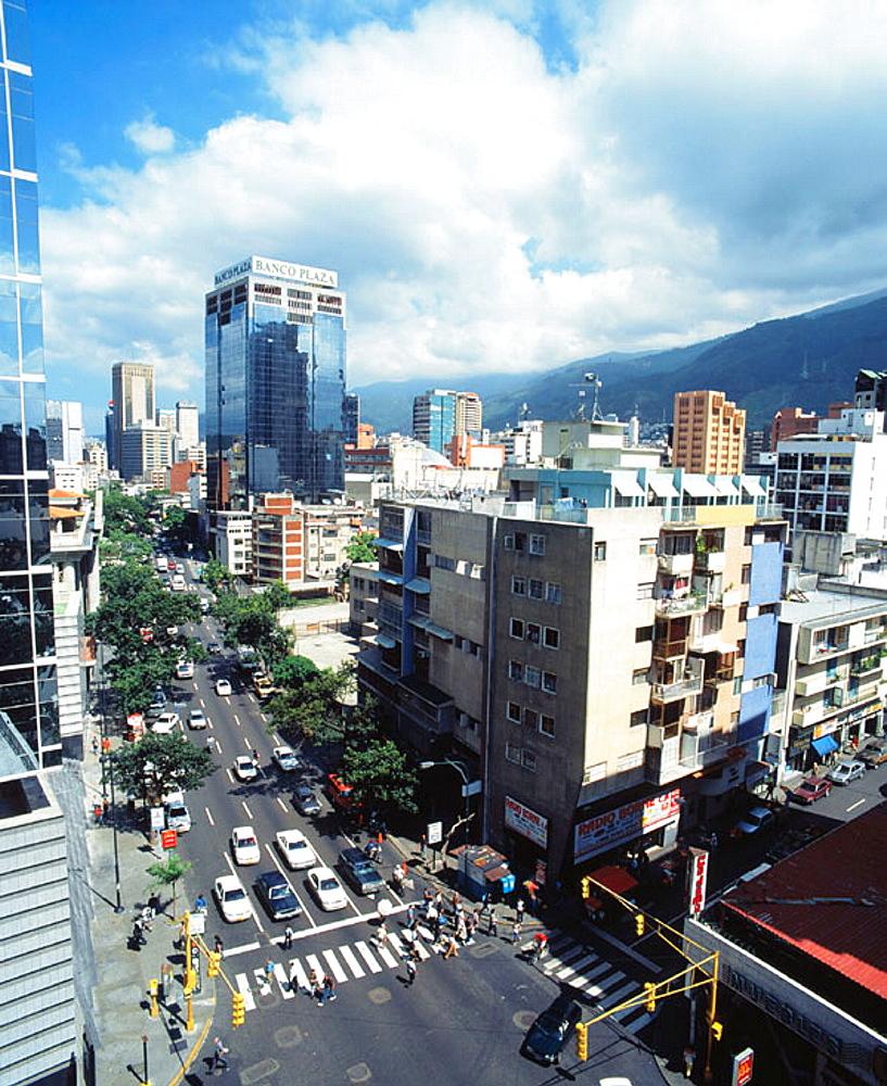 Casanova Avenue in Caracas in the Sabana Grande quarter, Venezuela