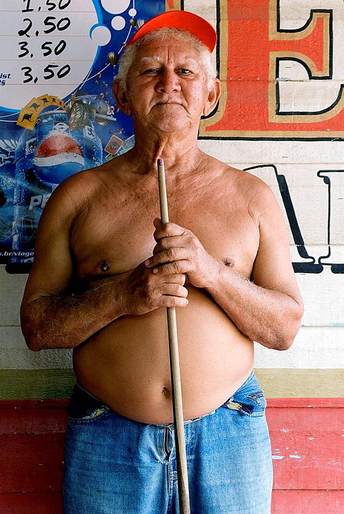 Raimundo Picara, professional pool player, Santarem, Brazil