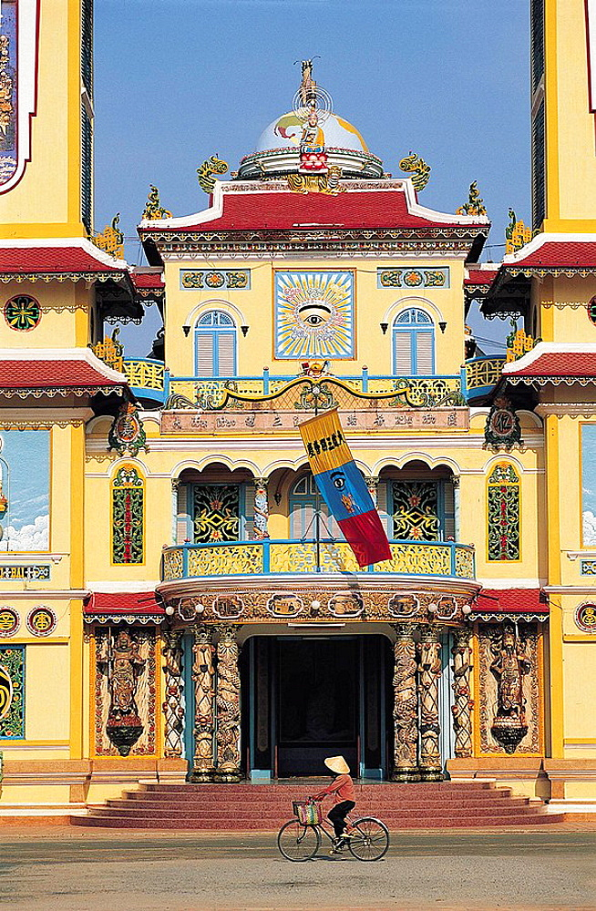 Temple cathedral of the cao dai religion, tay ninh, Vietnam