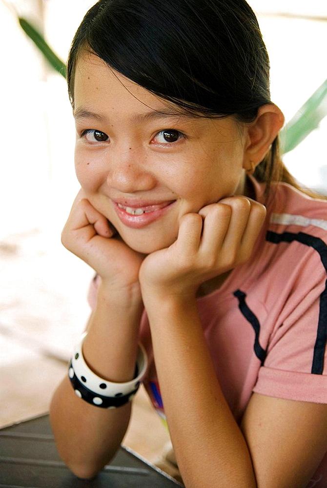 Girl, An Binh, Mekong Delta, Vietnam