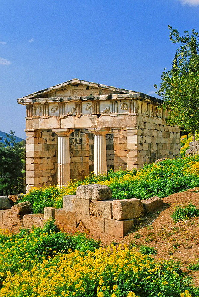 Greece, Delphi, the Treasury of the Athenians
