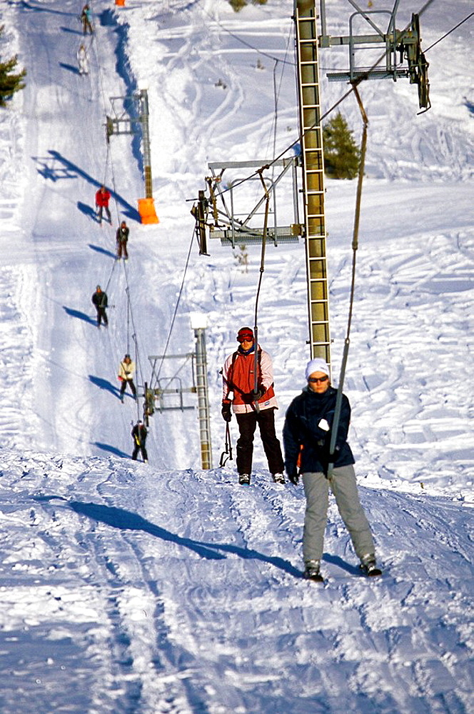 Summit of the Cheiron mountain in the ski station of Greolieres les Neiges (30 miles away from the mediterranean coast) Alpes-Maritimes 06 France Europe