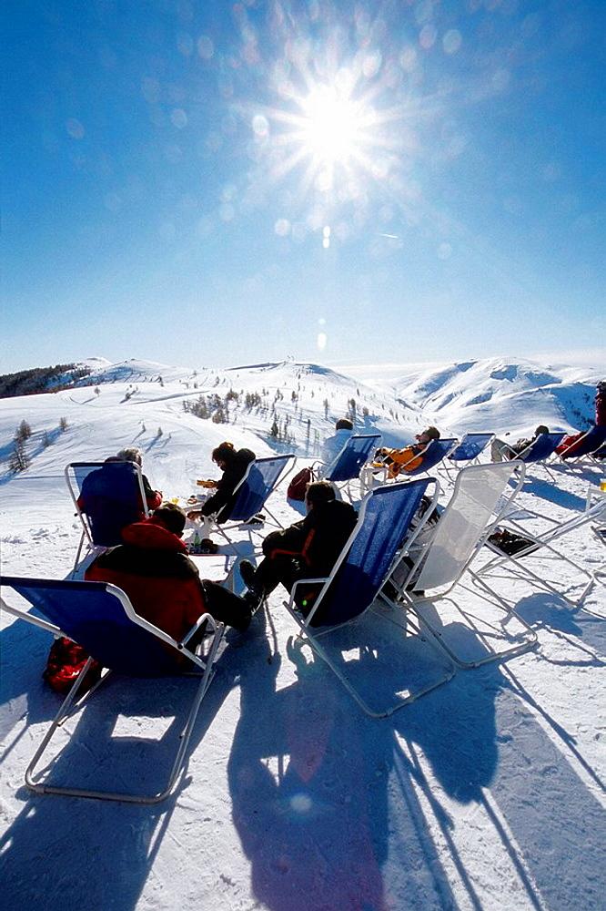 ski station of Valberg into the Mercantour national park Alpes-Maritimes 06 France Europe