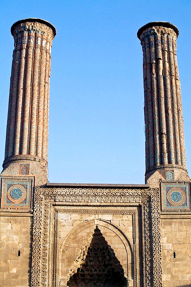 Cifte Minareli Medrese (aka Twin Minaret Madrasah), Erzurum, Anatolia, Turkey