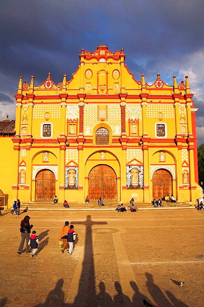 Cathedral, Plaza 31 de Marzo, San Cristobal de las Casas, Chiapas, Mexico