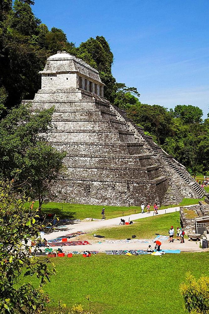 Templo de las Inscripciones, Temple of the Inscriptions, Palenque Archaeological Site, Palenque, Chiapas, Mexico