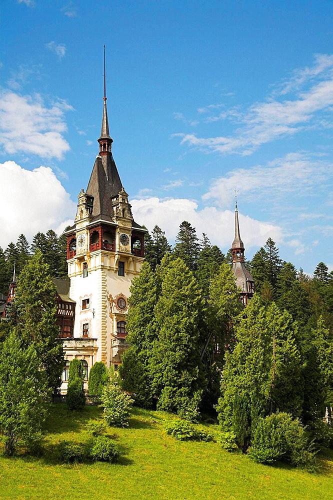 Peles Castle, Sinaia, Prahova Valley, Transylvania, Romania