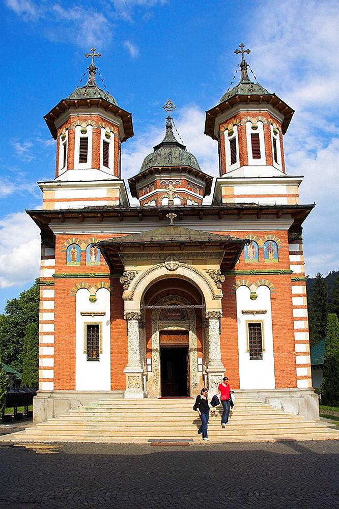 New Church, Biserica Mare, Sinaia Orthodox Holy Monastery, Sinaia, Prahova Valley, Transylvania, Romania