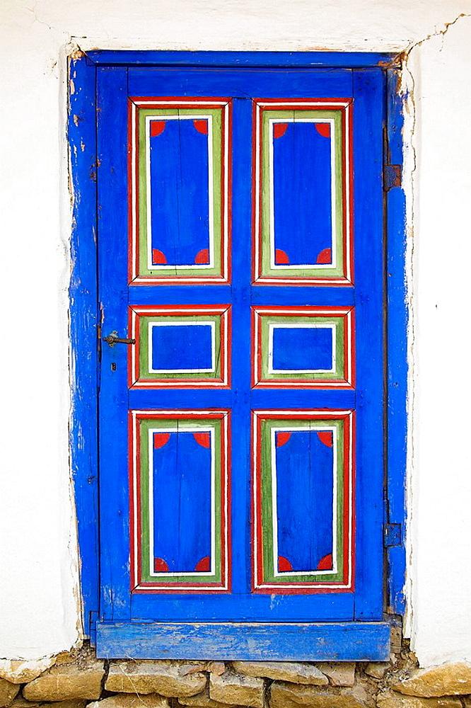 Door of building, Muzeul National al Satului Dimitrie Gusti, Ethnographic Village Museum, Bucharest, Romania